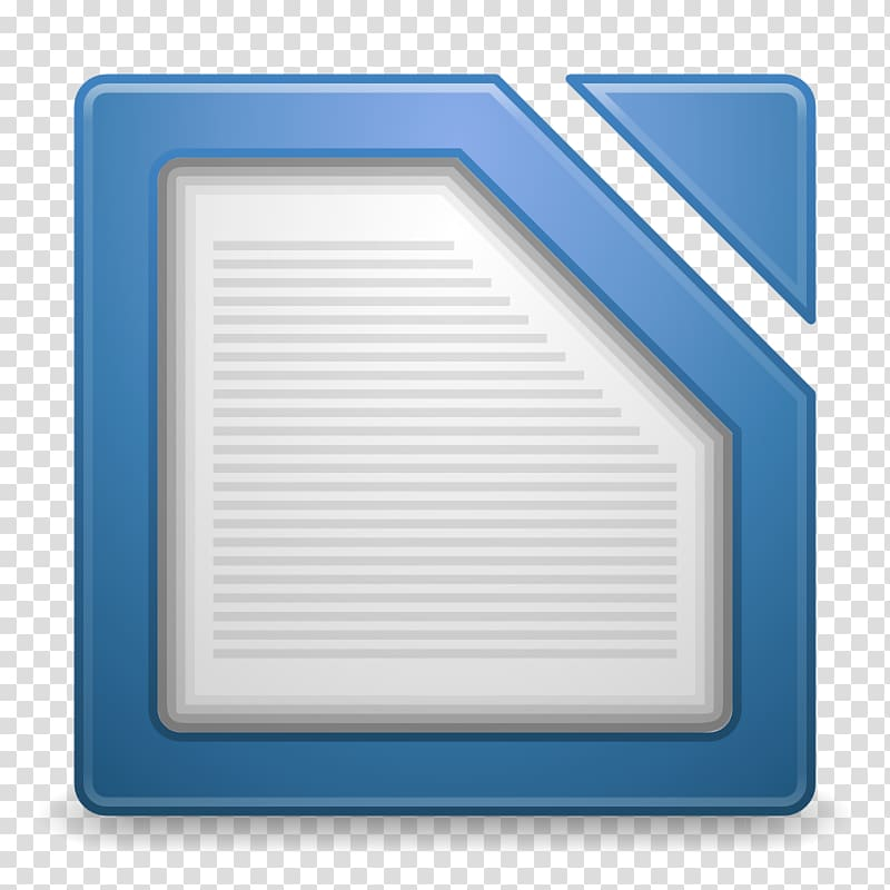 Blue angle line, Apps libreoffice writer transparent.