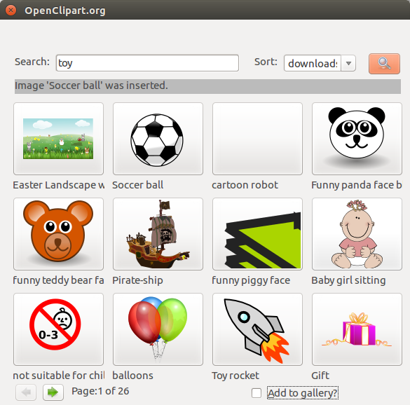 OpenClipart.org integration — LibreOffice Extensions and.