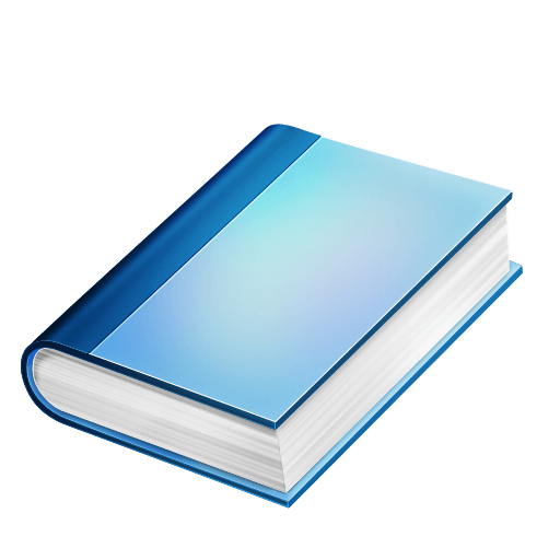 Blue Book transparent PNG.