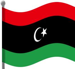 Libya Flag Waving Clip Art Download.