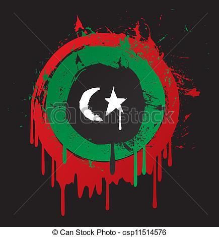 Vectors Illustration of libya flag csp11514576.