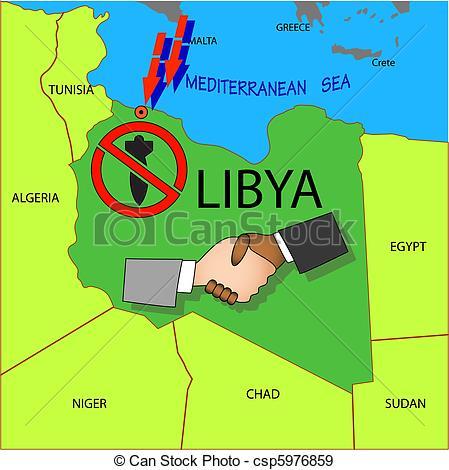 EPS Vectors of Stop military operations in Libya. csp5976859.