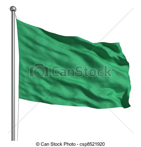 Stock Illustration of Flag of Libya.