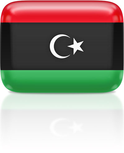 Flag Icons of Libya.