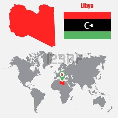 Libya map clipart.