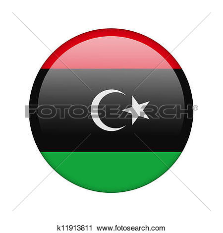 Clipart of The Libyan flag k11913811.