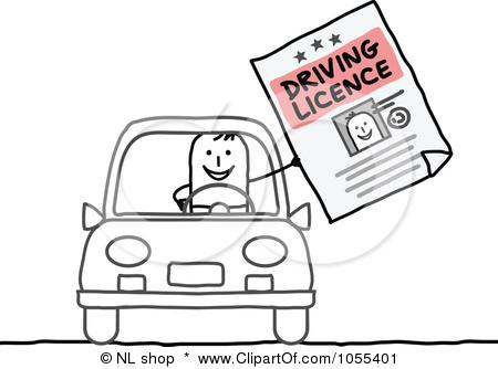 Car license clipart.