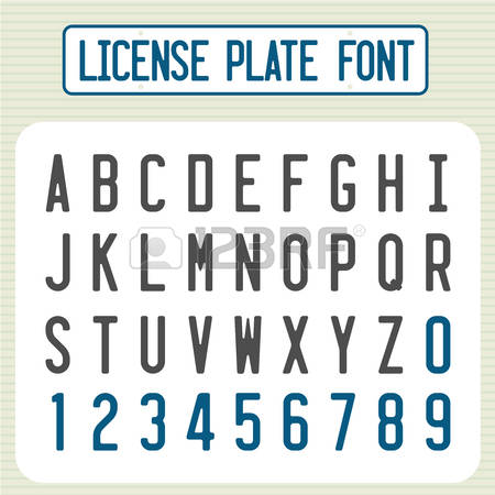 3,441 Number Plate Cliparts, Stock Vector And Royalty Free Number.