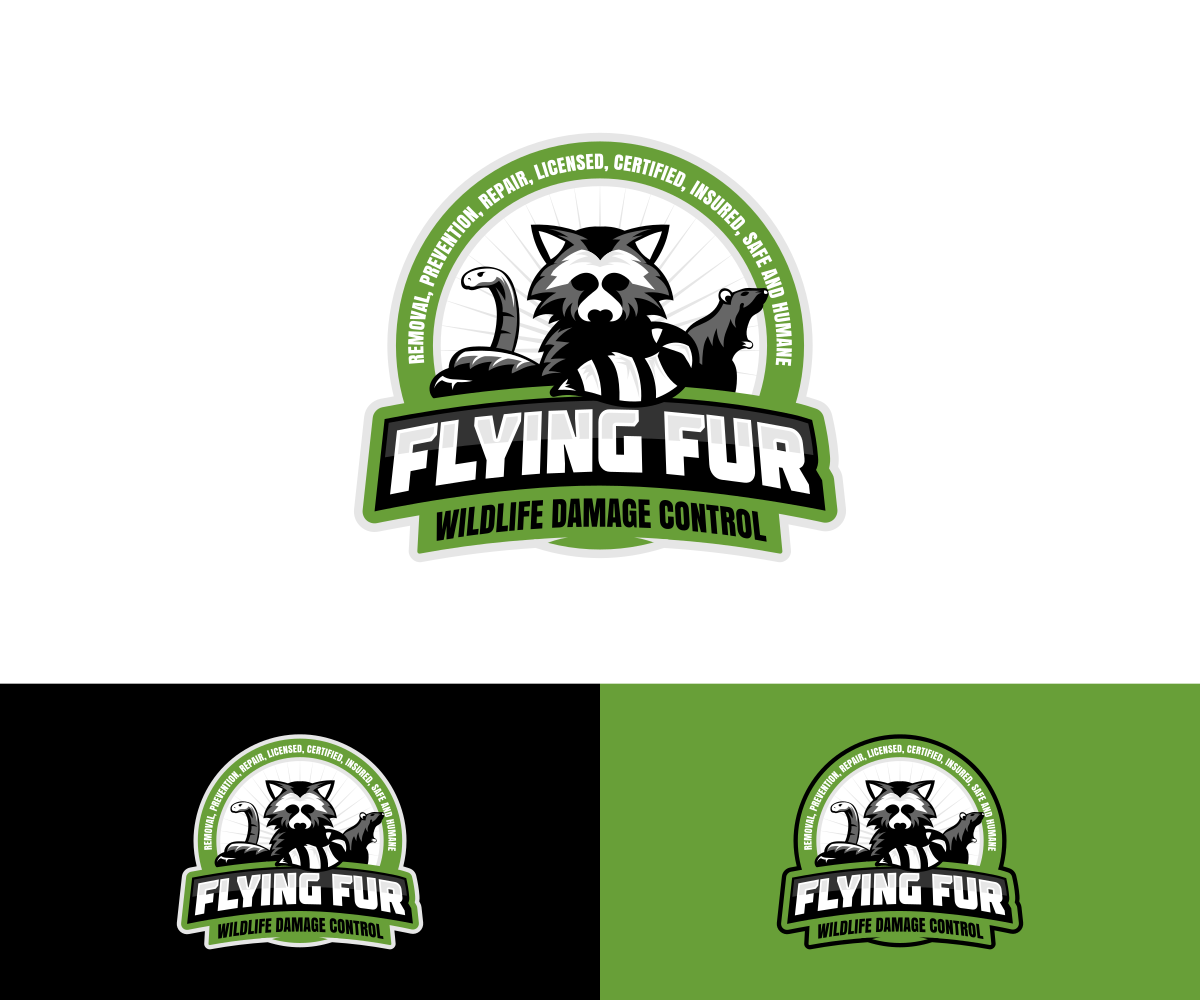 Bold, Serious, It Company Logo Design for Flying Fur.