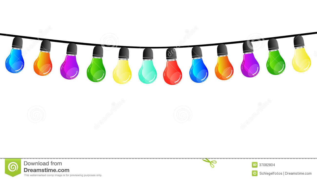 Lichterkette Hintergrund Stockfotos.