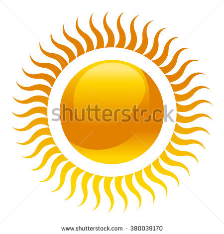 Background Color Orange Summer Sun Vector Stock.