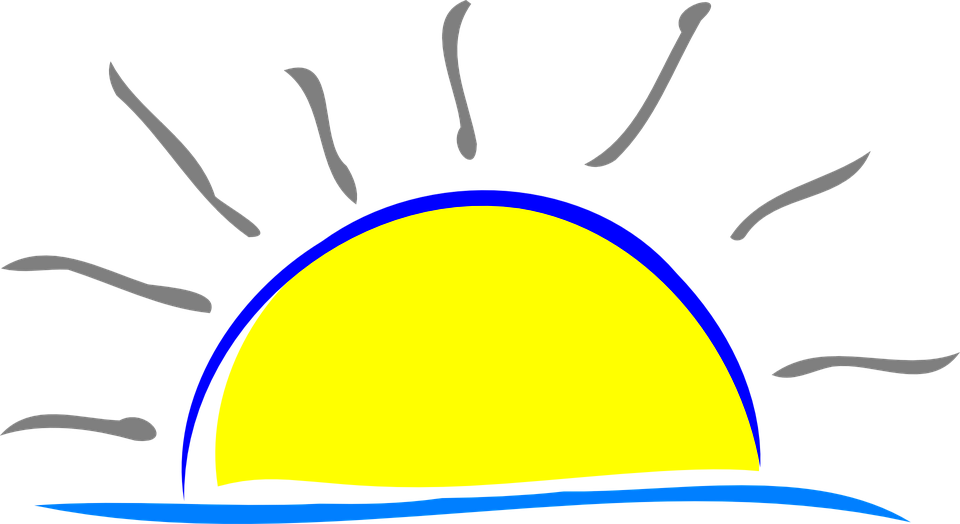 Free vector graphic: Sun, Water, Yellow, Sunset, Dawn.
