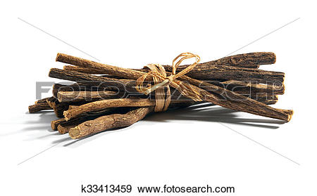 Stock Photograph of Bundle of licorice root k33413459.