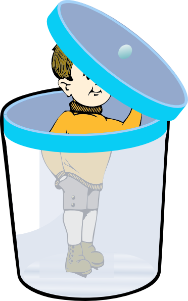 Boy In A Bin With Lid Clip Art at Clker.com.
