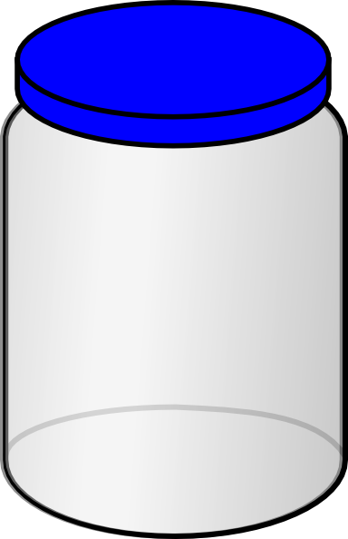 Jar With Blue Lid Clip Art at Clker.com.