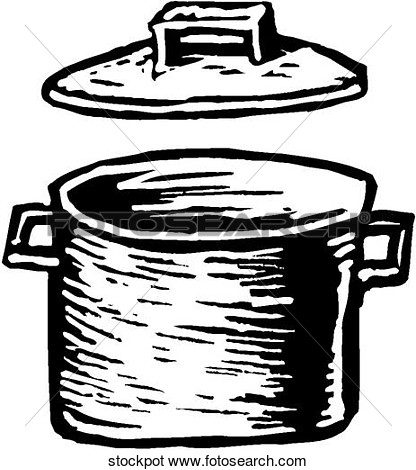 Clip Art Pot with Lid.