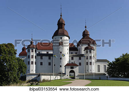 "Stock Photo of ""Laeckoe Castle or Laeckoe Slott, Lidkoping."