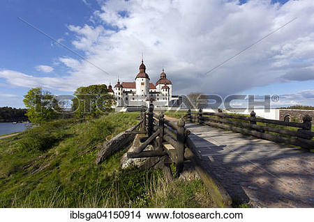 Stock Photo of Lacko Castle by Lake Vanern, Lidkoping, Sweden.