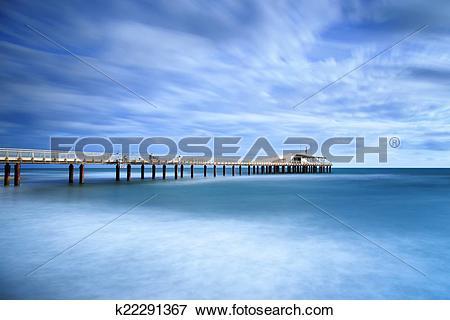Picture of Pier soft water long exposure Lido Camaiore versilia.