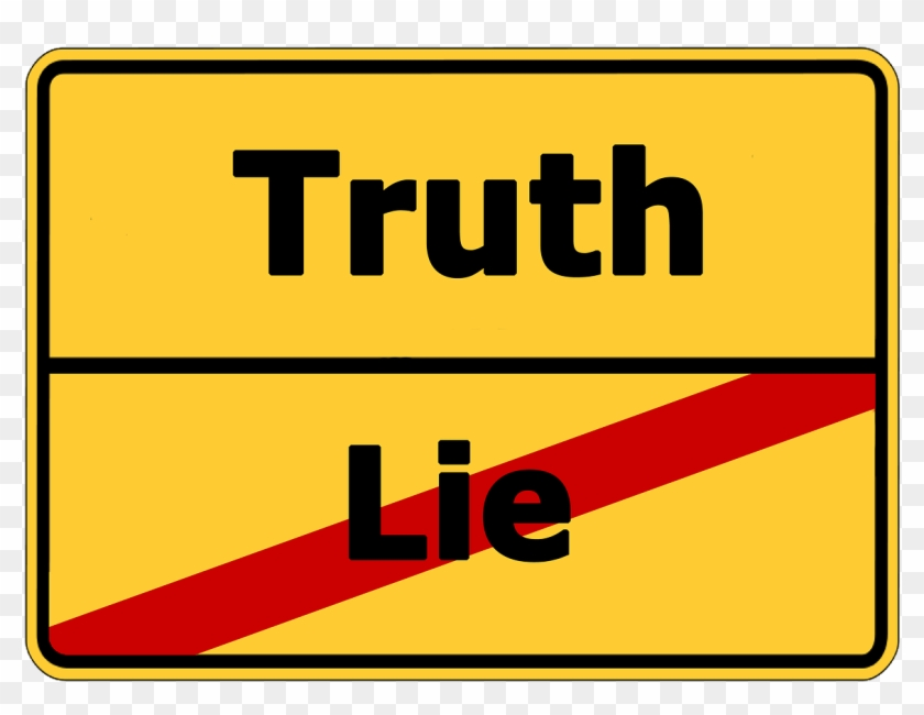 Truth Lie Street Sign Contrast Png Image.