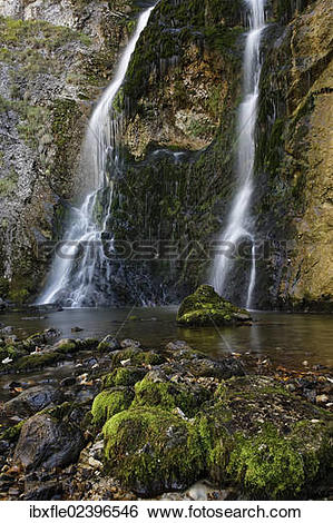 "Stock Images of ""Waterfall in the Wasserlochklamm gorge near."