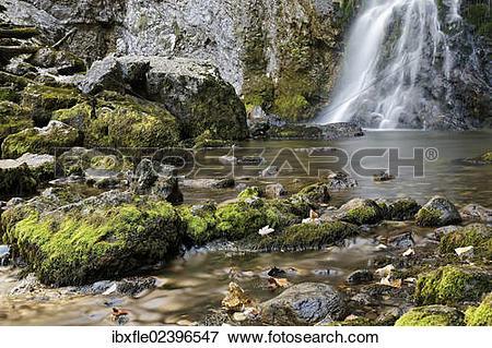"Picture of ""Waterfall in the Wasserlochklamm gorge near Palfau."