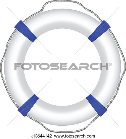 Clipart of Red life buoy. k13226620.