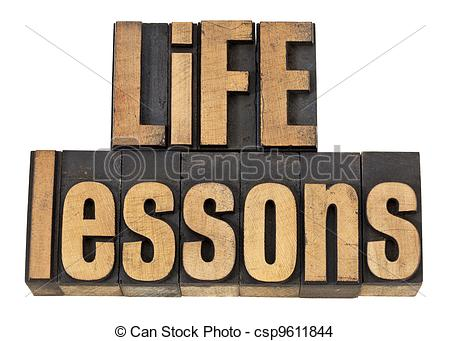 Stock Photo of life lessons.