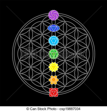Clipart Vector of The Flower of Life is the modern name given to a.
