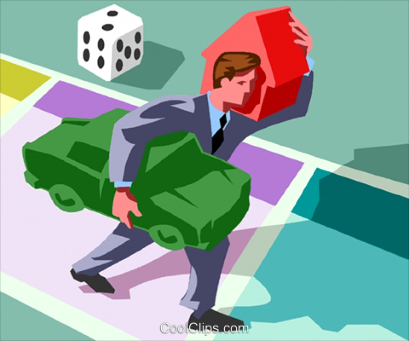 playing the game of life carrying a load royalty free vector clip.