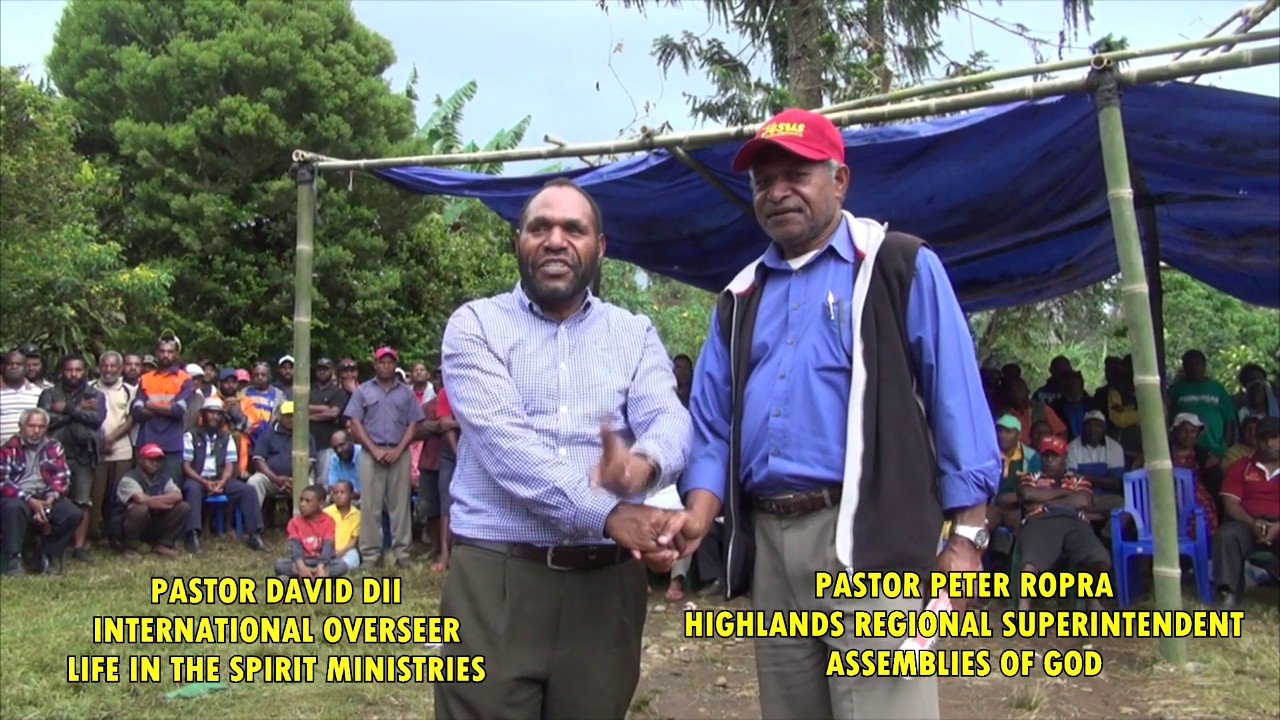 AOG & Life In the Spirit Ministries agreeing to work in partnership to give  back to God a new PNG..