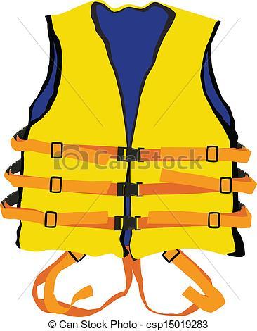 Vector of yellow life jacket.