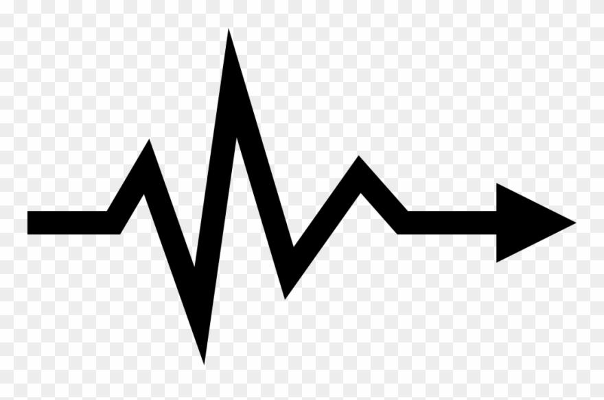 Heartbeat Lifeline Arrow Symbol Icon Free Download.