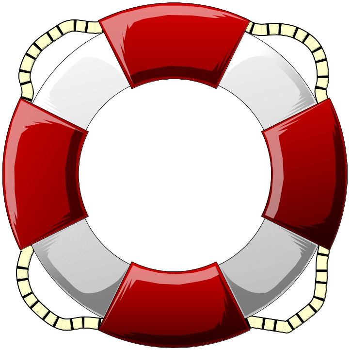 Cartoon life preserver clipart.