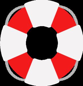 Lifesaver Red And Grey Clip Art at Clker.com.
