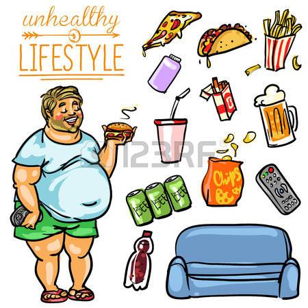 unhealthy habits clipart