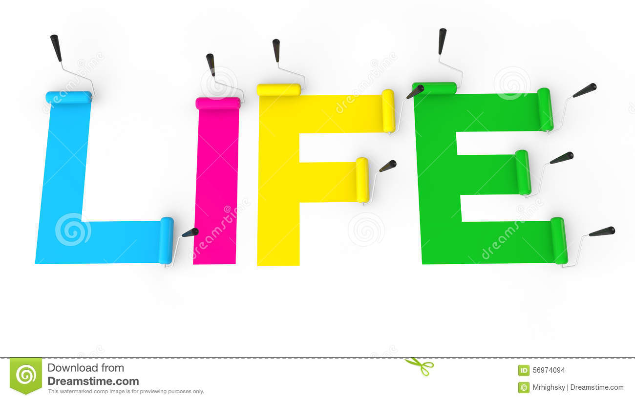 The Word Life Clipart.