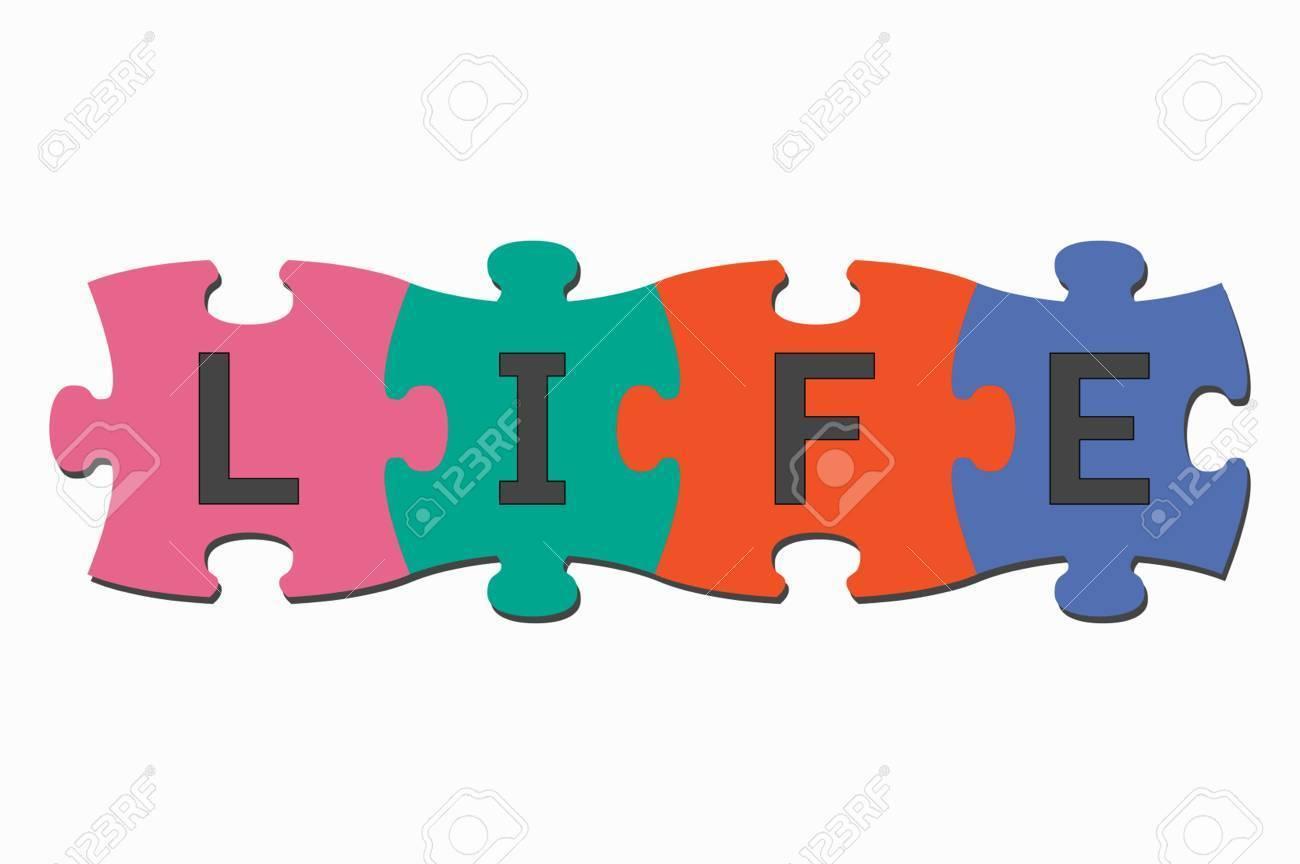 Word puzzle pieces life » Clipart Portal.