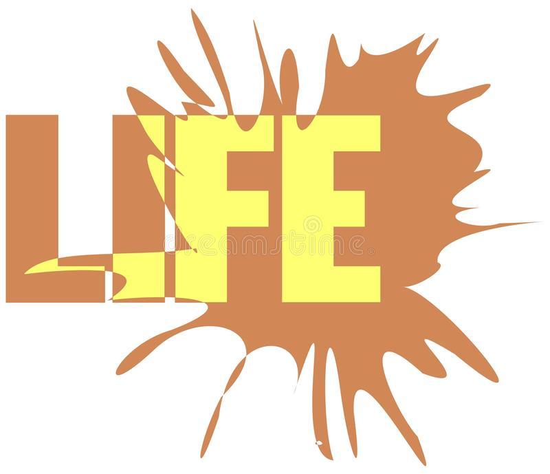 Word Life Stock Illustrations.
