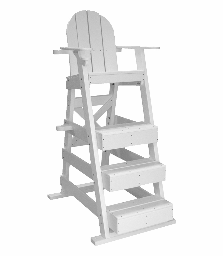 515 Lifeguard Chair White Isolated.