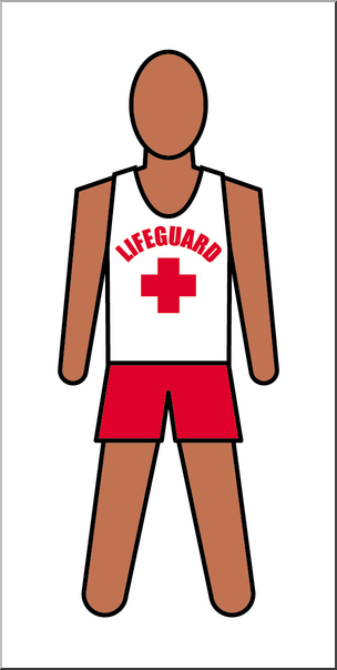 Clip Art: People: Lifeguard Male Color I abcteach.com.