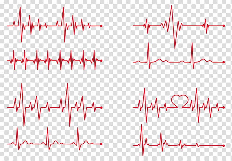 Heart rate Electrocardiography, red heart beat, lifeline.