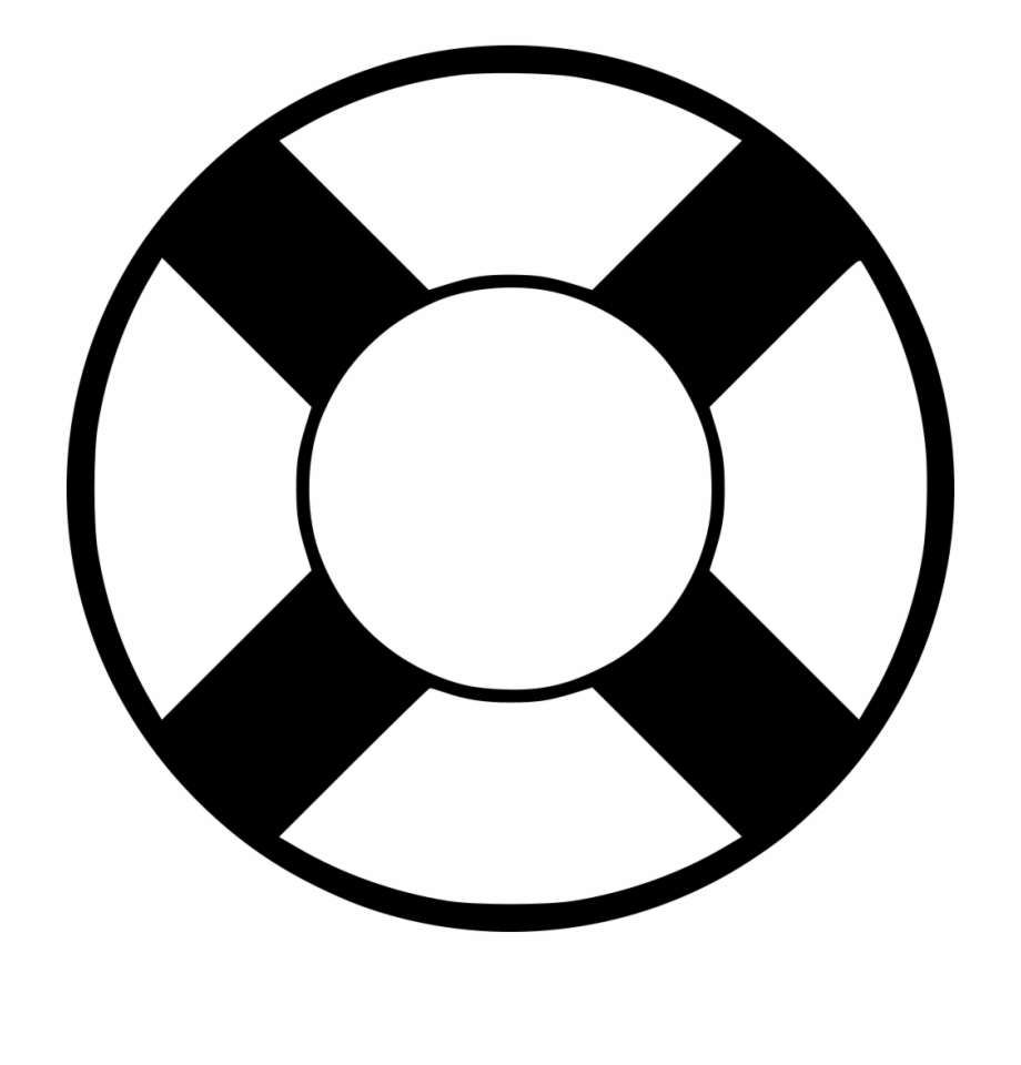 Free Lifesaver Clipart Black And White, Download Free Clip.