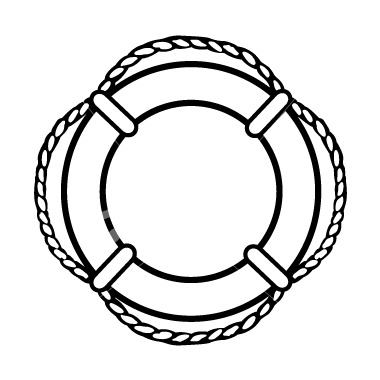 Life Saver Clipart Black And White.