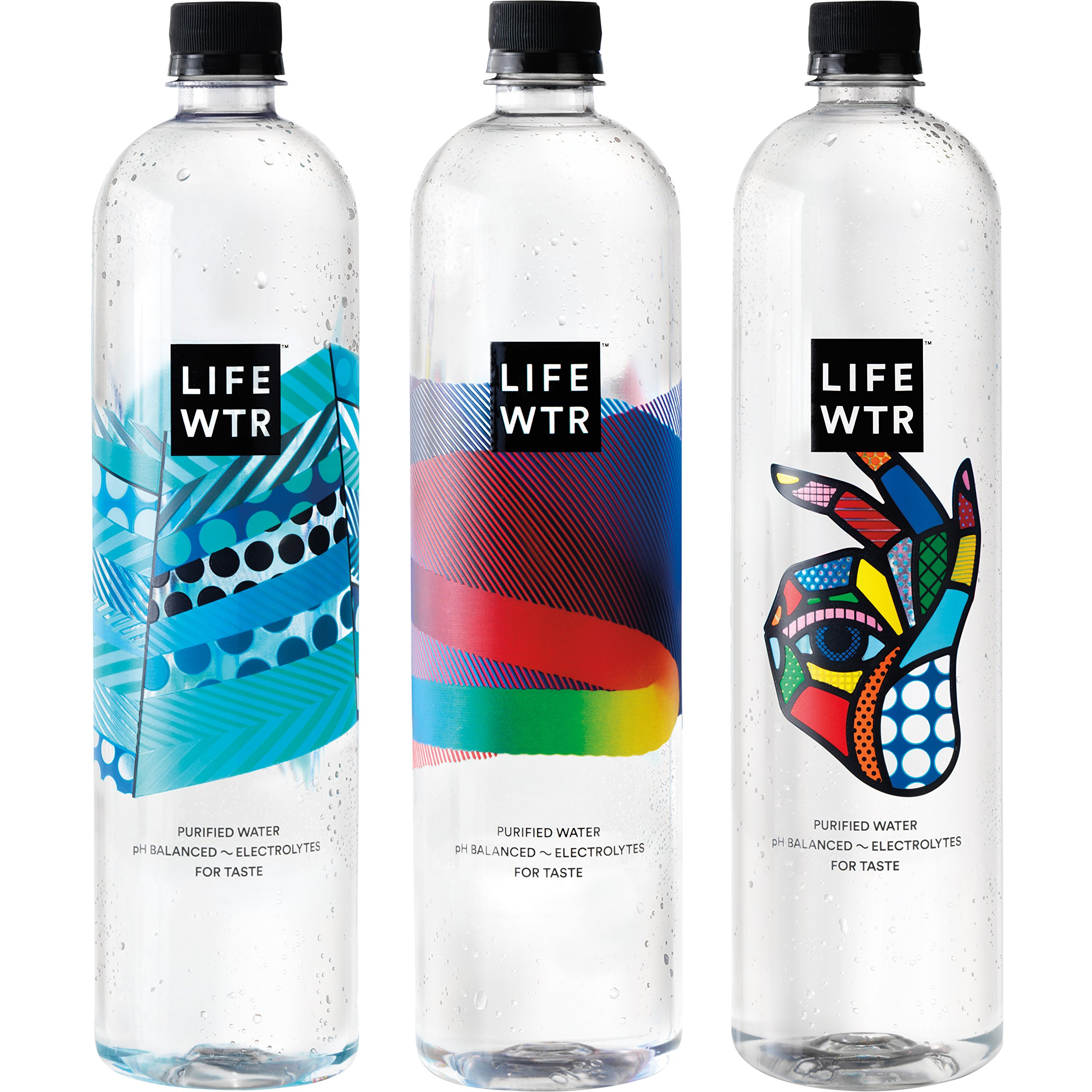 LIFEWTR, Premium Purified Water, pH Balanced with Electrolytes For Taste, 1  6.