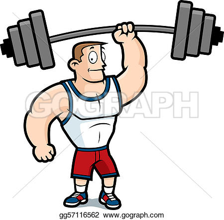 Weight Lifting Clip Art.