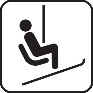 Chair Lift Ski Lift White Clip Art at Clker.com.