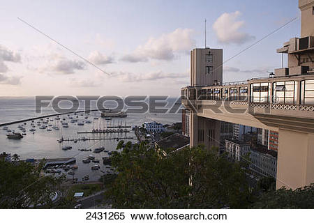 Stock Image of The Atlantic Ocean seen from the upper town, with.