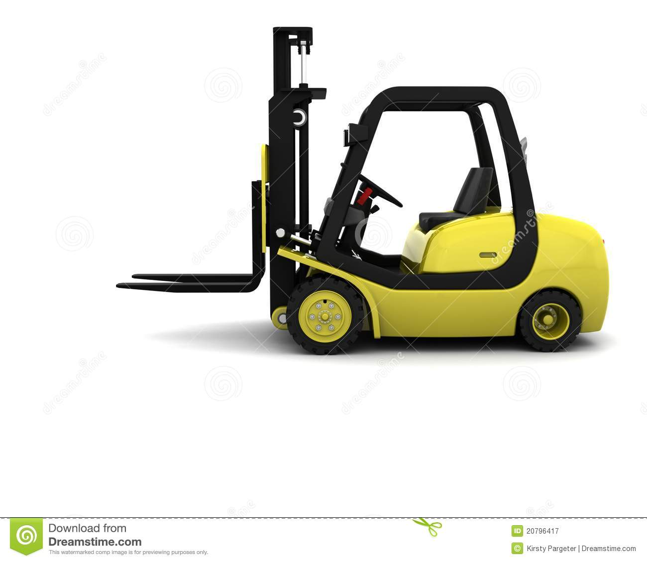 Yellow Fork Lift Truck Pallet Stock Illustrations.