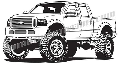 4x4 Lifted Truck.